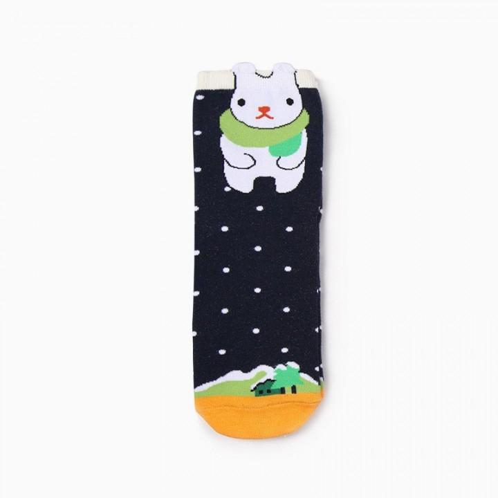 Underwear & Sleepwears Men Socks Cartoon Elephant Flower Star Geometry Stripe Leopard Print Happy Funny Street Harajuku Male Hip Hop Skate Cotton Socks