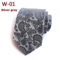 Design Silk Mens Tie 8cm Cashew Print Neck Ties Male Classic Neckties Wear Business Wedding Ties
