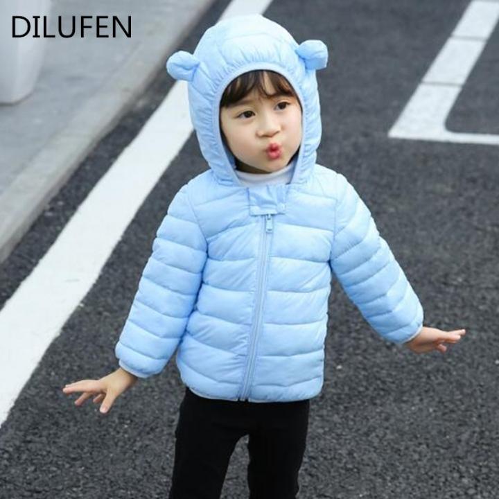 773fe7ec6419 boys Baby Girls Coats Jackets Outerwear Cotton Hooded Winter Coats ...