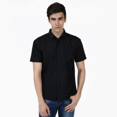 Summer Short Sleeve Casual Men Shirt Solid Turn Down Collar Camisa Masculina Fashion Streetwear H