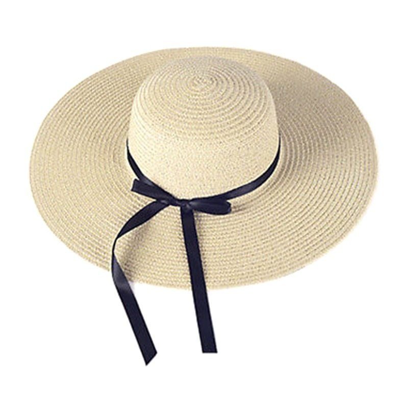 Straw Hat Women Big Wide Brim Beach Hat Sun Hat Foldable Sun Block UV  Protection  Product No  2811591. Item specifics  Seller SKU SSNnYctLomj   Brand  c4c6c46bb55a