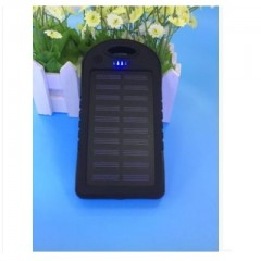 solar power bank 5000mah Portable Waterproof Solar charger Dual-USB Solar battery Charger for iph