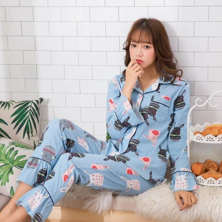 43cbfc9e62 Winter Long Sleeve Pajamas Women Suit Girl Pijamas Mujer 100% Cotton  Comfortable Homewear Leisure