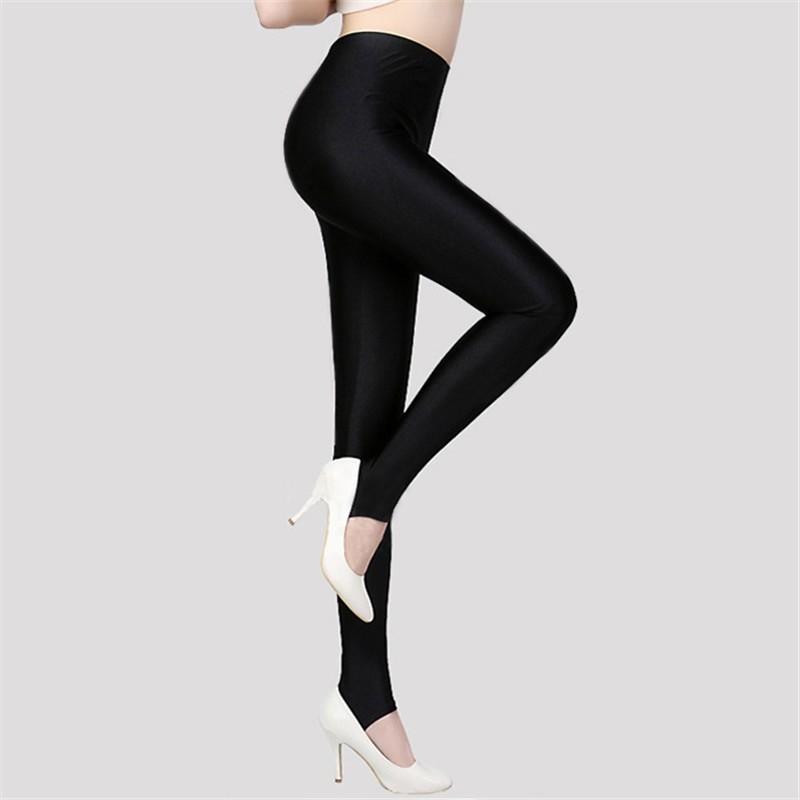 f5cb3d51610af Size Women Shiny Black Legging Autumn Ladies Push Up Slim Leggings High  Waist Stretchy Soft Large: Product No: 2820622. Item specifics: Seller ...