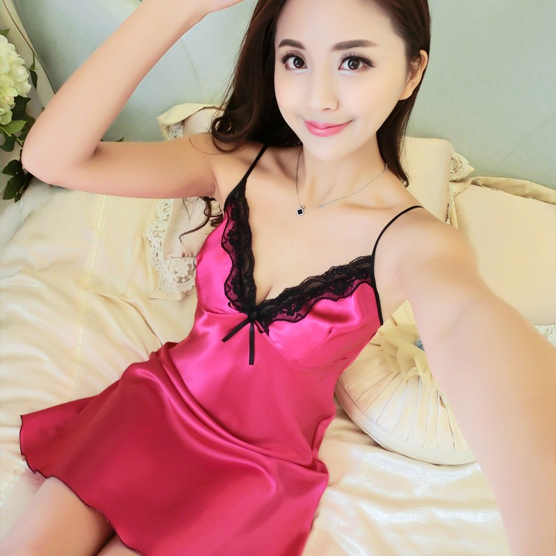 a7464d6e81 Sleepwear Female Lace Women Sexy Lingerie Nightgowns Silk Night Dress Ladies  Nightgown Sexy Night  Product No  2826657. Item specifics  Seller ...