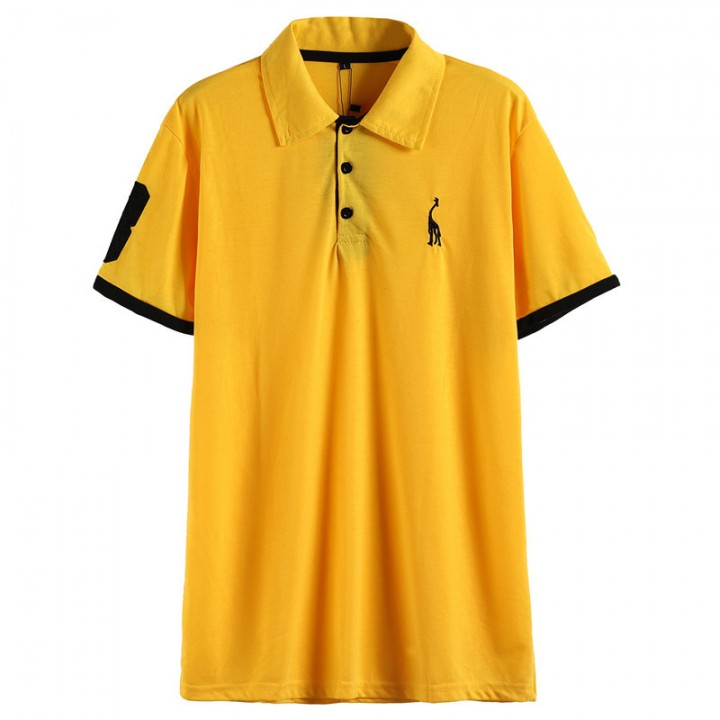 Mens Polo Shirt Short Sleeve Embroidery Printing Cotton Polo Shirts