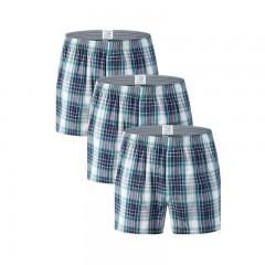Style Mens Tartan Boxers Elasticity Classic Plaid Casual Men Underwear 3 Pack Ventilate Oversize