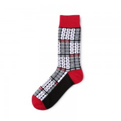 Kassidys Autumn and winter anime combination stitching geometric men and women cotton socks Jacqu