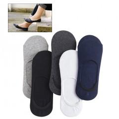 Pairs Mens Low Cut Socks No Show Invisible Anti-Skid Socks for Summer (Random Color)