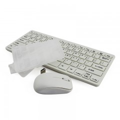 Keyboard Mouse Combos With Cover Ultra Thin Computer English Keyboard PC Wireless Mouse For Deskt