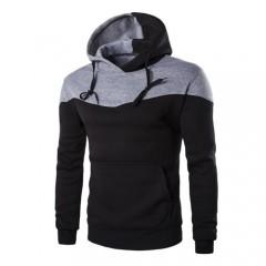 Hoodies Men Sudaderas Hombre Hip Hop Hoodies Decorative Pocket Patchwork Hooded Sweatshirt Male F