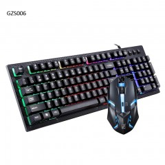Keyboard and Mouse Combo Backlight Gaming Game USB Wired Keyboard Mouse Mice Set Black