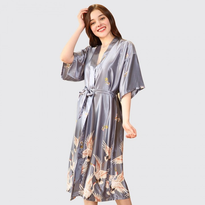 3200578f78 Female Bridesmaid Robes Silk Satin Bridal Wedding Robe for Women