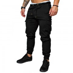 Men Cargo Pants Hip Hop Harem Jogging Pants 2018 Male Trousers Mens Jogging Solid Multi-pocket Pa