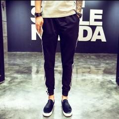 Mens Trousers elastic waist Sports pants fashion casual pants