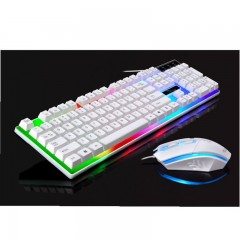 Wired USB PC Gamer Mechanical Pendant Feel Keyboard and Mouse Set Photoelectric Laptop Keyboard