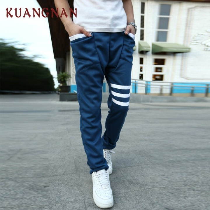 ff46a57e794 Striped Casual Pants Men Trousers Streetwear Hip Hop Cotton Pencil Pants  Men Joggers Mens Pants 2