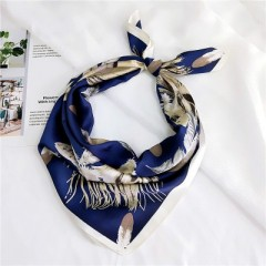 handkerchief with featherprint/Women small square scarf/New style headbands Hair ribbons/For many