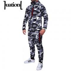 2018 Tracksuit Men Camouflage Hoodies Pants Sets Military Sweatshirts Hoodies Mens Sportswear Sui 1 XXXL