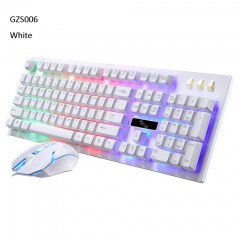 Mouse Wired LED Rainbow Color Backlight Gaming USB Wired 1600DPI Keyboard And Mouse Set For PC