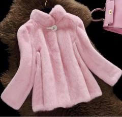 Winter Faux Fur Coat Jacket Women New 2018 Winter Parka Women Short Slim Thickening Warm Parkas C