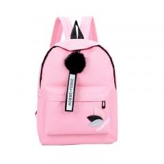 Solid backpack girl school bags for teenage College wind Women SchoolBag High student bag black n