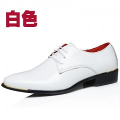 pointed retro British mens business casual shoes Korean version of the patent leather mens belt l