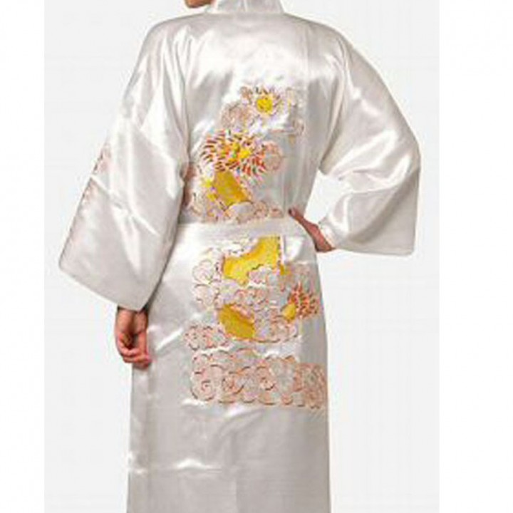 Royle Emperor Hotel Japanese Kimono Yukata Bathing Robe Chinese Style  Dragon Print Night Gown Spa 43b2c85fe