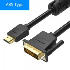 HDMI To DVI Cable DVI-D 24+1 Pin Support 1080P 3D High Speed HDMI Cable For LCD DVD HDTV XBOX Pro