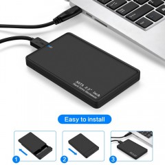 Mobile Hard Disk Case Support 2TB HDD SATA to USB 3.0 Portable SSD HDD External Hard Drive Case f
