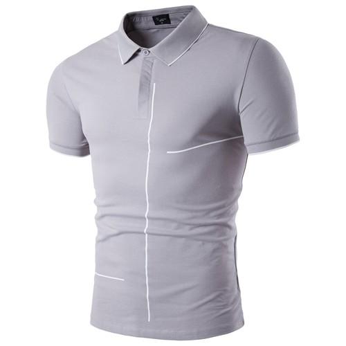 New Fashion Mens Polo Shirt Brands Good Quality Short Sleeve Slim