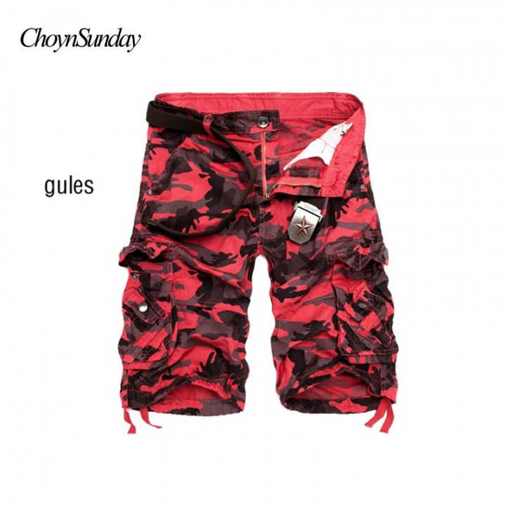 5d73869f85 New Camouflage Loose Cargo Shorts Men Cool Summer Military Camo ...