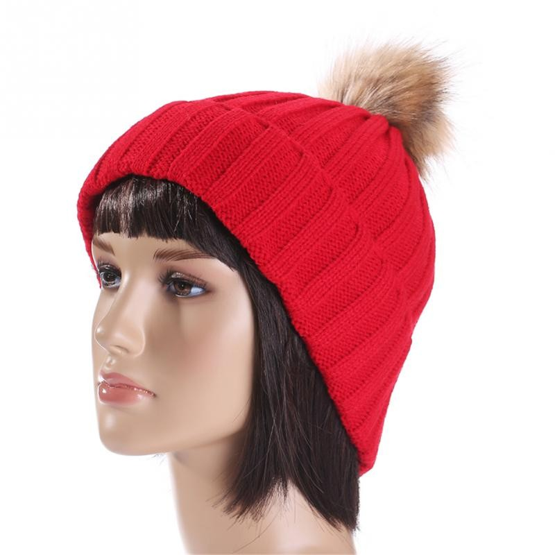 Item specifics  Seller SKU FxvLtLzqL0J  Brand  Fur Pompom Hat Winter Hat  Men Skullies Beanies Women Warm Cap Elasticity Knit Beanie Hats ... bb6dc95af7eb