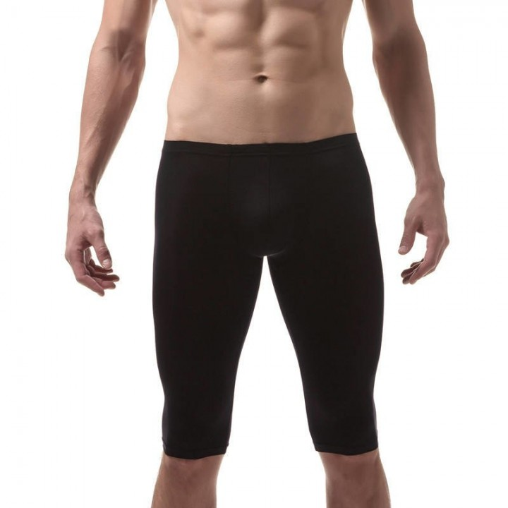 e66ac2e296a Mens Ultra Thin Underwear Boxers Ice Silk Half Leg Boxer Shorts Trunks  Bulge Pouch Shorts Slim