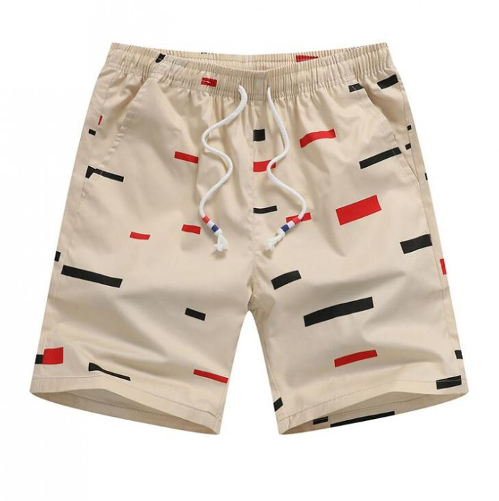 dc7d38c848 Beach Shorts Men Summer Brief Dot Drawstring Men Board Shorts Fashion  Cotton Half Long Shorts For