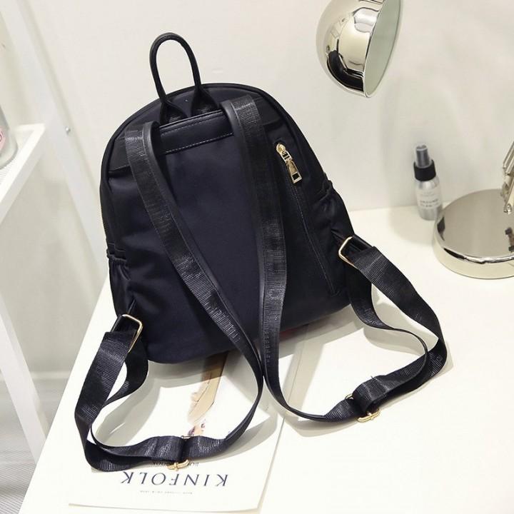 9d2a722870 Feminine Portfolio School Bag Black Backpack Female Women Feminina For Girl  Teenager Small School