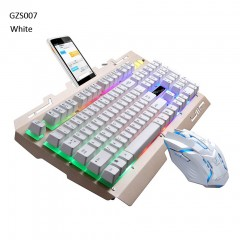 Gaming Keyboard Mouse Wired Combo Gamer Keyboard 104 Keys 2400DPI Mouse Backlight LED For Desktop