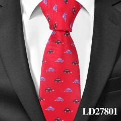 Cartoon Tie For Men Polyester Jacquard Animal Necktie for Wedding Business Suits 6cm Skinny Wide