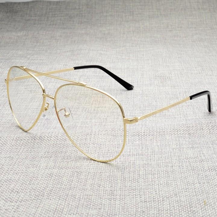 760b3eb99259 145mm Oversize Aviation Glasses Frame Men Women Gold Black Large Eyeglasses  for Myopia Optical Pr