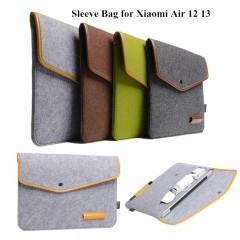 Bag For Xiaomi Mi Air 12.5 13.3 Inch Laptop Pouch 12 13 Notebook universal Case Wool Felt bag Tab Grey 11.6inch