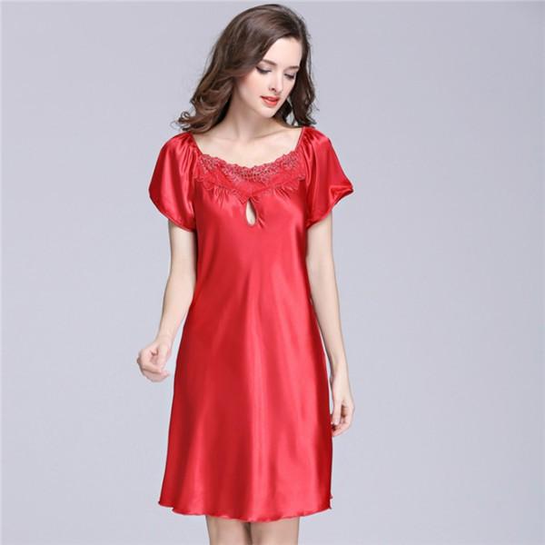 49136ea9516ea ... Lingerie Satin Silk Night Dress Plus Size S ~ 4XL Sleepwear 9 Color  Lace Nightgow: Product No: 2977527. Item specifics: Seller SKU:UZovnbuTkE9:  Brand: