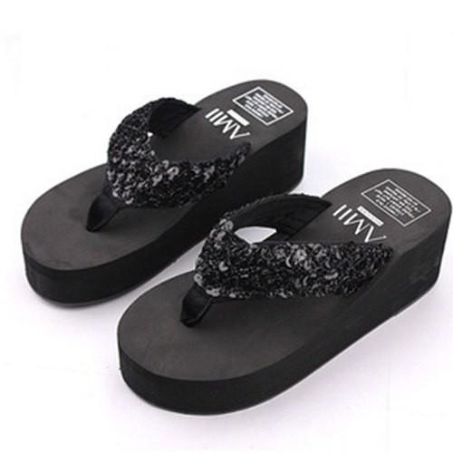 7f47c70c1 ... Fashion Bling Platform Flip Flops Slide Lady Beach Slippers Wedge High  Heels Women  Product No  2976131. Item specifics  Seller SKU DrXOebTstDv   Brand