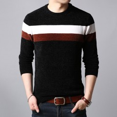 New Fashion Brand Sweaters Mens Pullovers Warm Slim Fit Jumpers Knit O-Neck Winter Korean Style C
