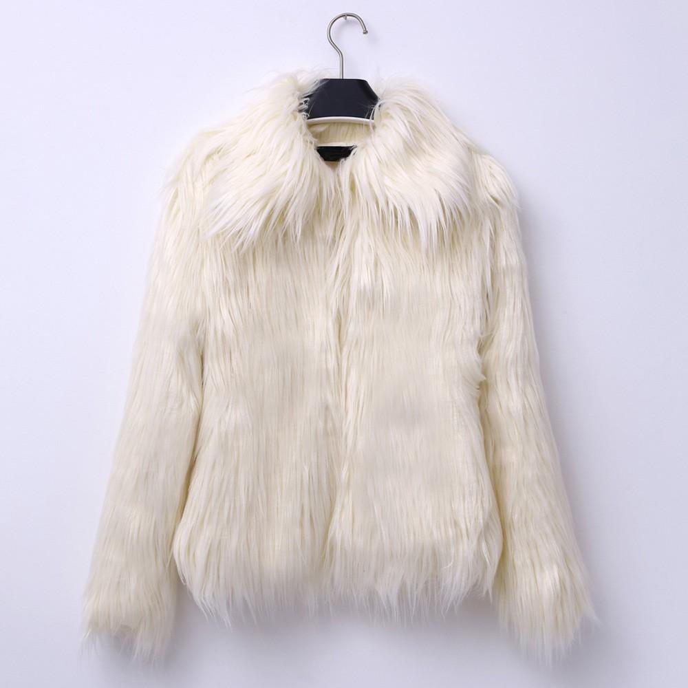 aabea00f729a3 Item specifics  Seller SKU VpLOJfydJqa  Brand  Kenancy 2018 Autumn Winter  Warm Women Faux Fur Coat Turndown Collar Long ...