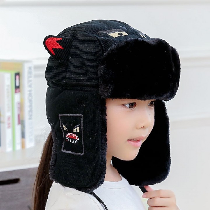 68a09e60aeb Hats family Bomber hats Kids cap Russian cap earflap Balaclava Warm Face Mask  Snow Parents and