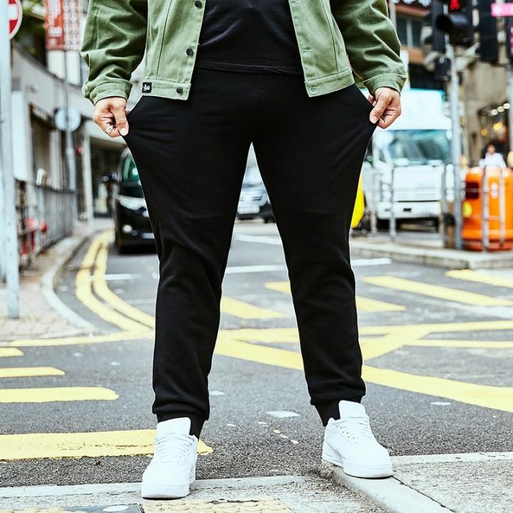 f19503943be76 winter plus fertilizer XL pants mens tide casual pants Wei pants fat people  elastic extra large