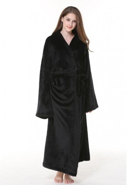 3e6e98fbb9 Designer Obese Flannel Robe Male With Hooded Thick Unisex Dressing Gown Men Bathrobe  Winter Long