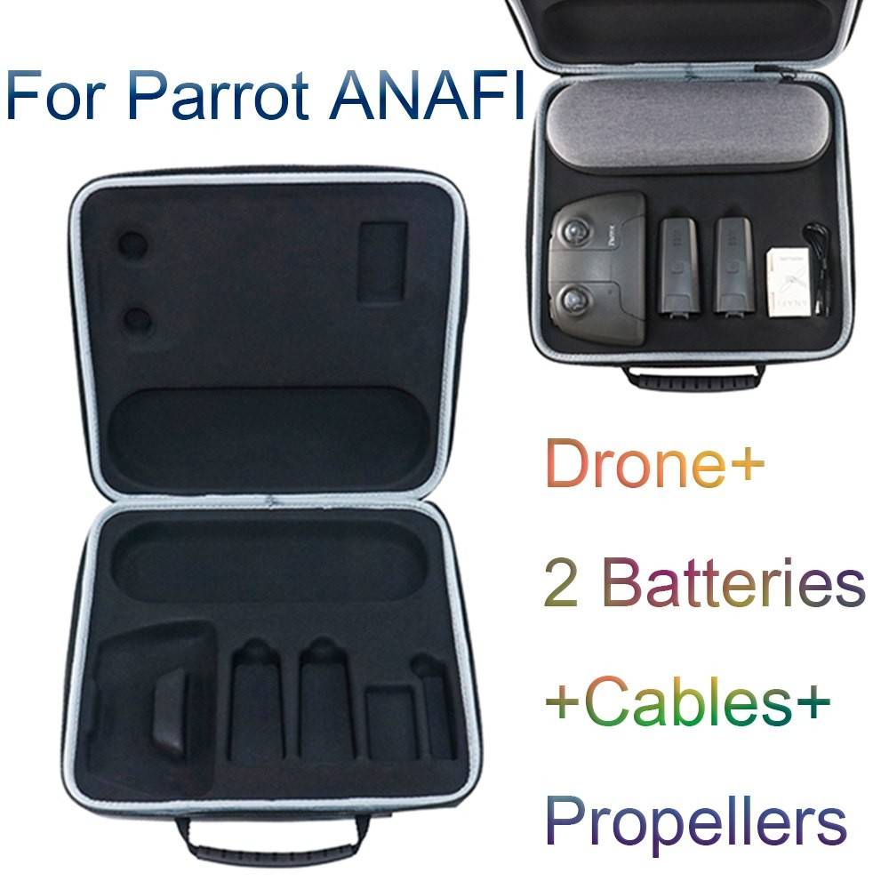 Handbag Drone Bag For Parrot ANAFI RC FPV Drone+2  Batteries+Cables+Propellers Storage Case With Z