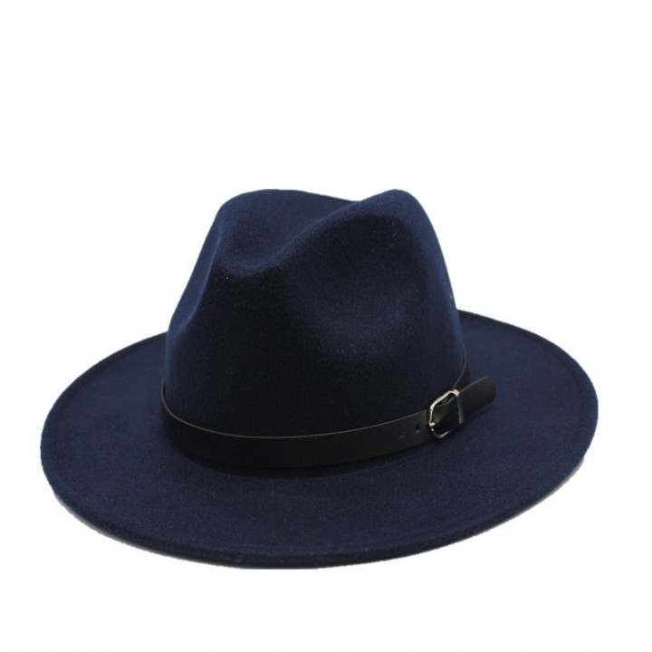 39438fbb0e427 100% Wool Wide Brim Floppy Felt Trilby Fedora Hat For Elegant Womem ...