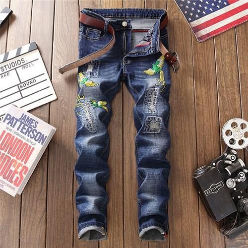 ca18589f9a771 Item specifics  Seller SKU kyPCtmbwjd3  Brand  2018 Fashion Men Ripped Jeans  Motorcycle ...